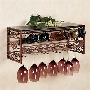 Wine rack with glass holder decofurnish