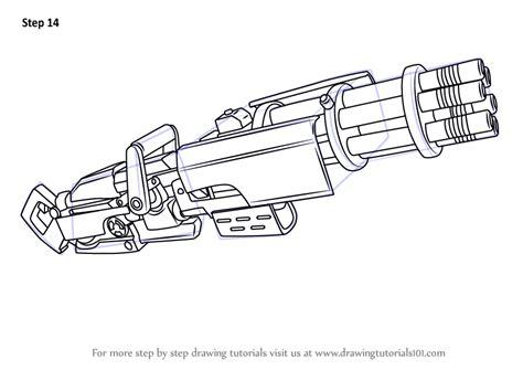 learn   draw minigun  fortnite fortnite step  step drawing tutorials