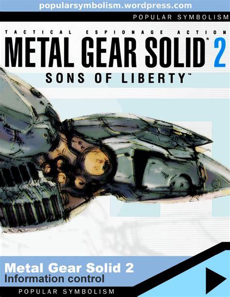 Popular Symbolism Metal Gear Solid 2 Sons Of Liberty