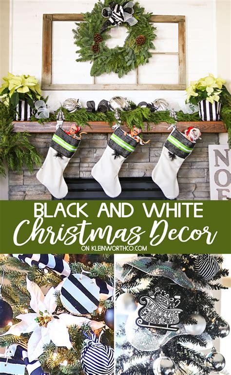 black  white christmas decor kleinworth