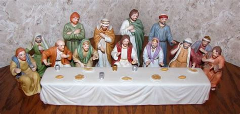 Home Interiors 4 Seasons Figurines : Last Supper Porcelain Figurine Set By Home Interiors
