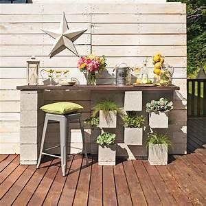 diy un bar exterieur en beton en etapes decoration et With bar de terrasse exterieur