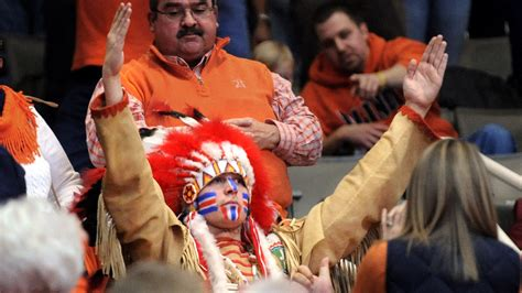 indian chief mascot  dropped  decade  hes