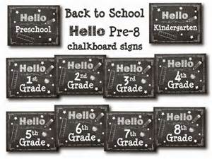 Free Printable Back to School Chalkboard Signs