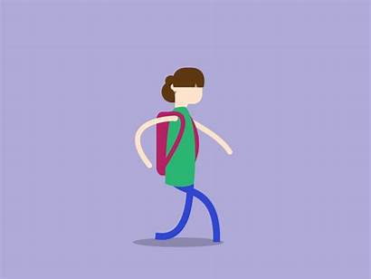Student Walking Animation Character Class Shout Simple