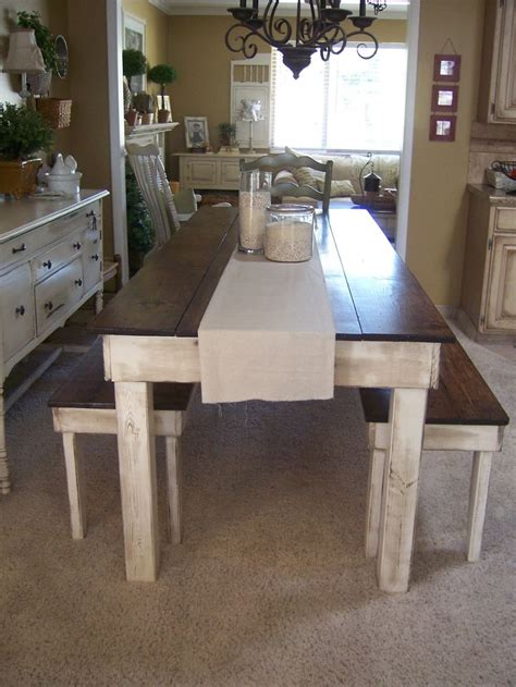 farm style table with bench farmhouse style dining room rustic homemade farm style