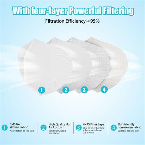 kn masks   pcs filter paper protection mouth mask
