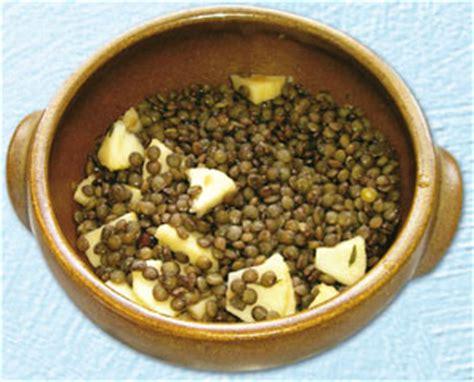 cuisine gauloise une recette gauloise salade de lentilles aux pommes
