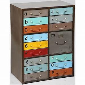 Petit Meuble à Tiroirs : meuble de rangement tiroirs m tal peint collection hometag ~ Edinachiropracticcenter.com Idées de Décoration