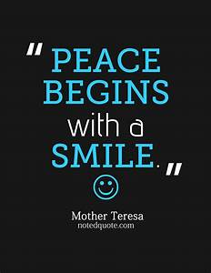 Smile Mother Te... Peace And Smile Quotes