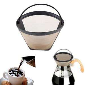 Swissgold coffee filter products are made with 23 karat gold plated materials, while gold tone products use a stainless steel filter mesh. New Permanent Reusable Gold Tone Cone Shape Coffee Filter ...