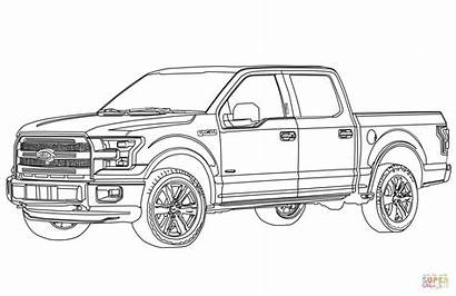 Coloring Ford Pages Trucks