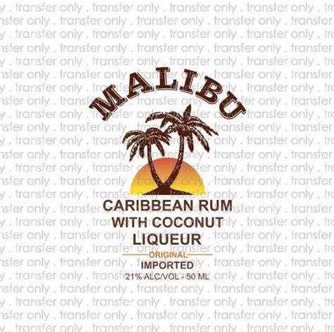digital file malibu rum label png jpg  print