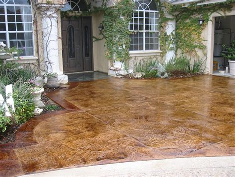 how to stain concrete patio to look like home