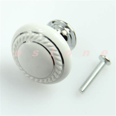 glass cabinet door knobs 2016 free shipping 3pcs lot white ceramic crystal glass