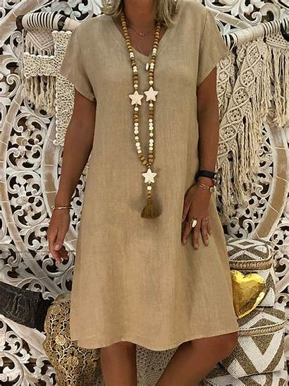 Dresses Casual Noracora Outfits Cotton Loose Ladies