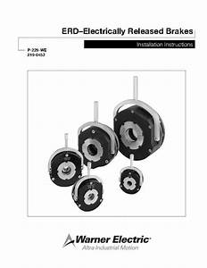 Erd U2013electrically Released Brakes Installation