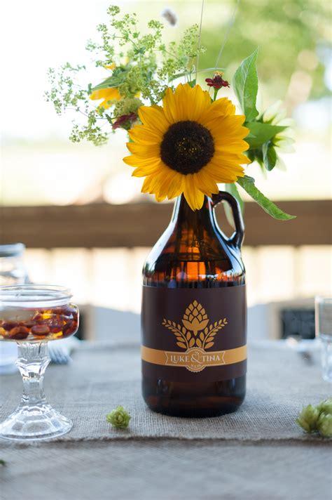 Sunflower Beer Growler Centerpiece Brewery Orchard Fall
