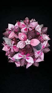 Fleur En Origami Facile : exemple bouquet de 15 fleurs origami en papier art ~ Farleysfitness.com Idées de Décoration