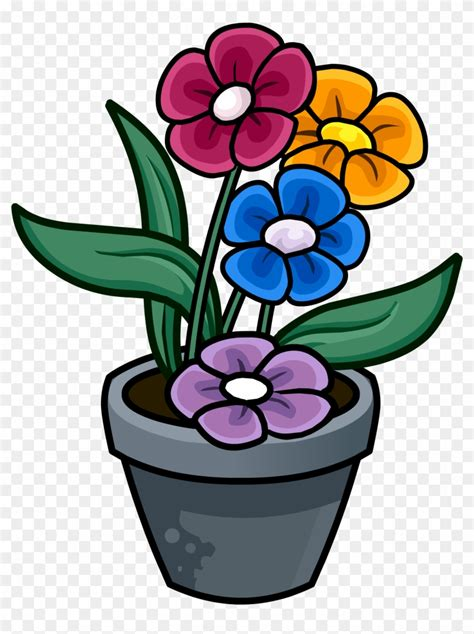 library  cute flower pots royalty  library  mothers day png files clipart art