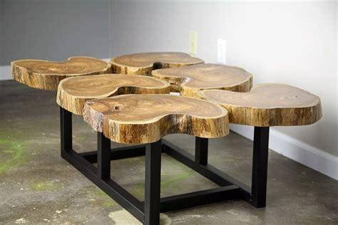 Buy a Hand Crafted Funky Coffee Table, Natural Teak Wood, Slab/Crosscut Modern/Urban Custom