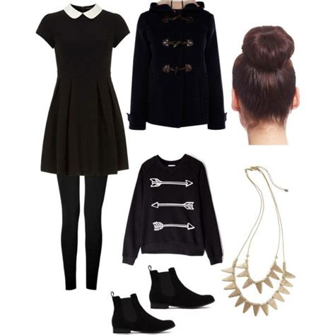 All Black Fall / Winter Work Outfit | Polyvore | Pinterest | Coats The ou0026#39;jays and Winter work ...