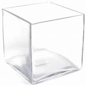 Vase Schwarz Glas : glas vase eckig vasen kunstblumen dekomaterial dekoration dekorieren einrichten ~ Indierocktalk.com Haus und Dekorationen