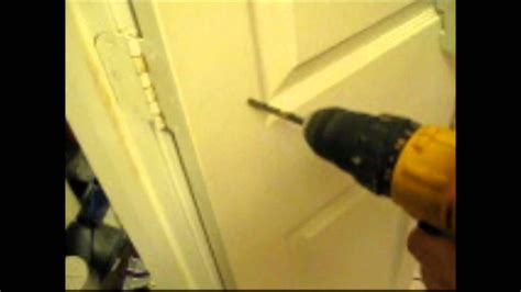 attaching spice rack   device  hollow core doorwmv youtube