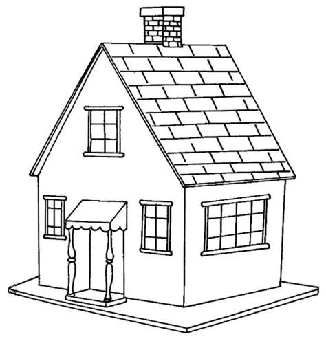 gambar pemandangan rumah untuk mewarnai pin di gambar