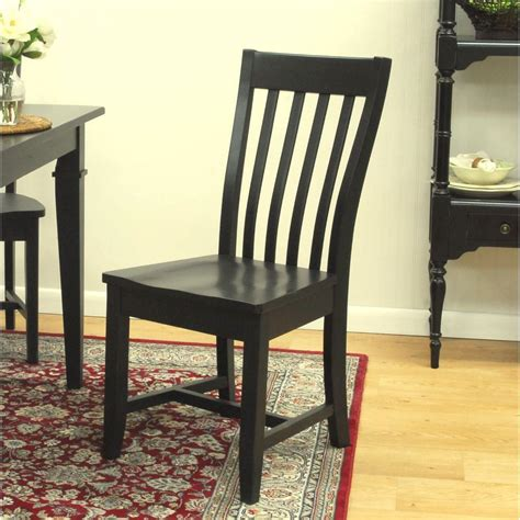 Cottage Chairs by Carolina Cottage Prairie Antique Black Wood Dining Chair