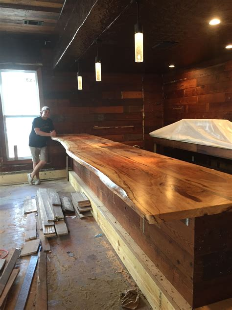 Bar Top Ideas by Live Edge Bar Top At The Craftsman Bar In