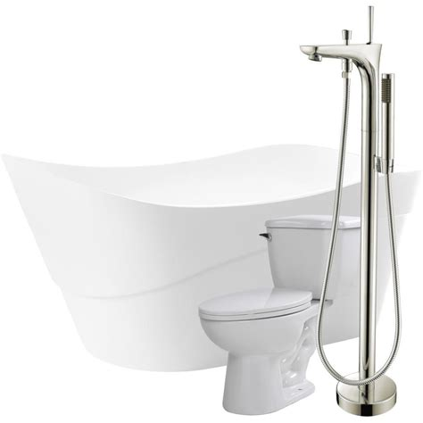 pictures of kitchen faucets and sinks anzzi kahl 67 in acrylic flatbottom non whirlpool bathtub 9109