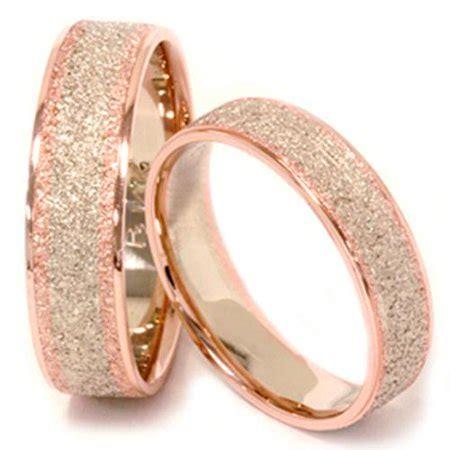 pompeii3 matching his hers 14k rose white gold wedding bands walmart com
