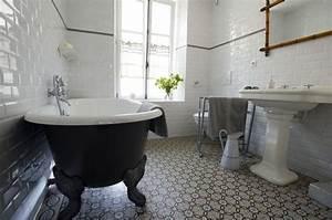 idees relooking interieurpeinture sur meuble recup With carreaux de ciment sdb
