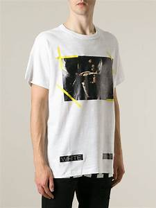 4e0b0ee8581c8b lyst off white c o virgil abloh caravaggio print t shirt in white for men