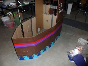 Duct tape and Cardboard Boat! - All
