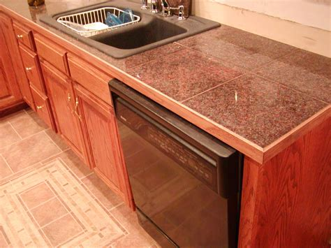 Ideas For Refinishing Kitchen Cabinets - remarkable granite tile countertop decorating ideas