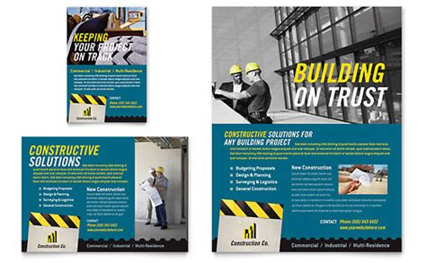 manufacturing leaflet templates design examples