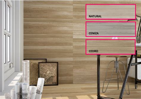 serie tevere azulejo  paredes imitacion  madera