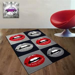 tapis ado tapis avec un damier de bouches yesdeko With tapis de chambre ado