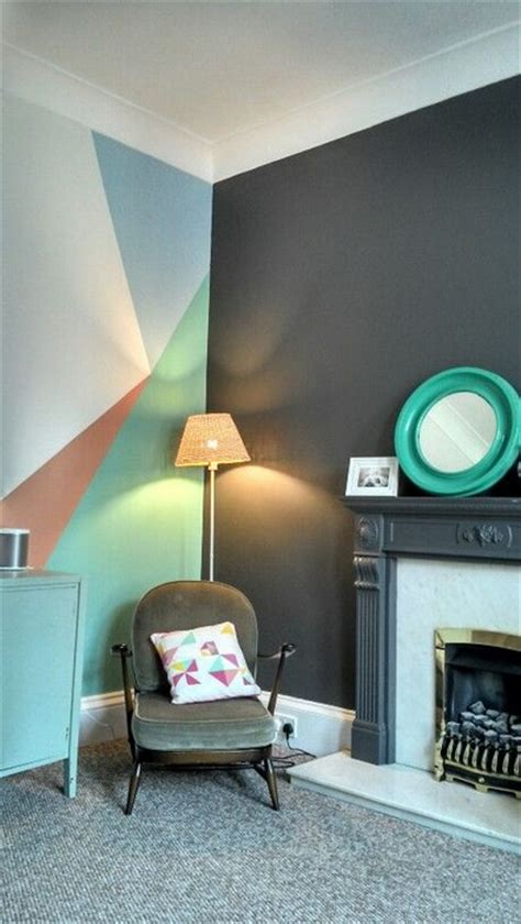 geometric wall design 25 home decor inspirations from buzzfeed messagenote