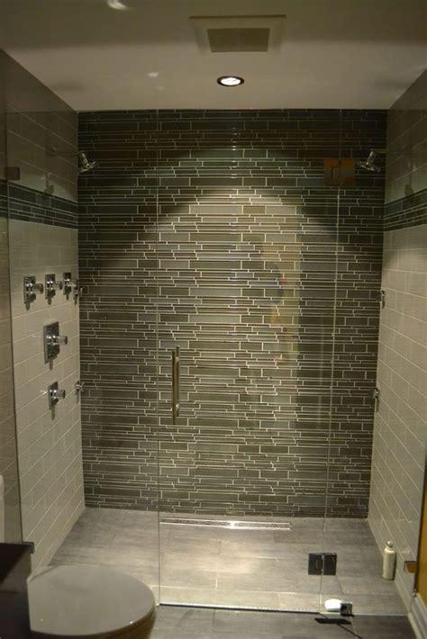 Modern Glass Tile Bathroom Ideas by Shower Glass Tile Ideas Modern Bathroom Lakeview Il