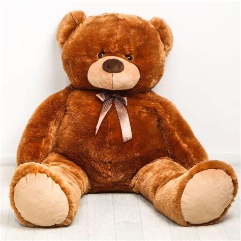 ours en peluche g 233 ant 150 cm brun achat vente peluche