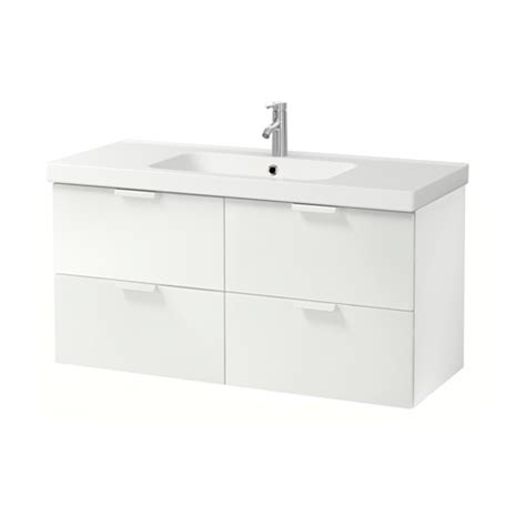 godmorgon odensvik sink cabinet with 4 drawers white