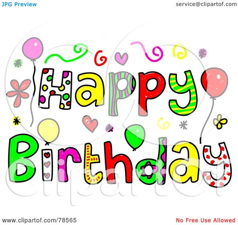 happy birthday clipart royalty free rf clipart illustration of colorful happy