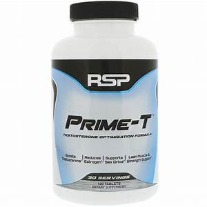 Rsp Nutrition  Prime-t  Testosterone Booster  120 Tablets