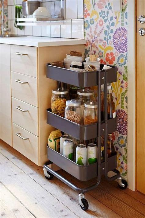 ways  add style storage   apartment kitchen