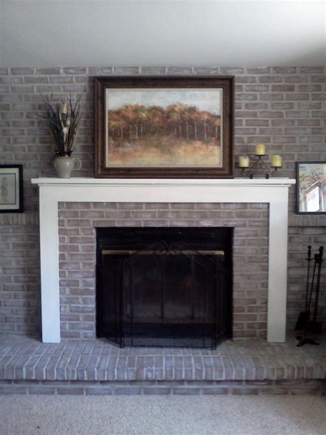 Easy Brick Fireplace Makeover - how to make a brick fireplace makeover kvriver