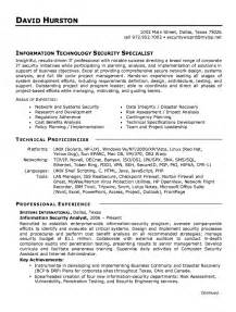 information security resume exles information security analyst resume exle resumes design