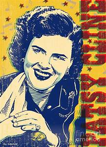 Patsy Cline Pop Art Digital Art by Jim Zahniser